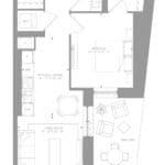 1181 Queen West Condos - Suite 201 - Floorplan