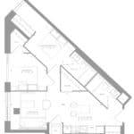 1181 Queen West Condos - Suite 306 - Floorplan