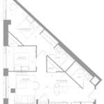 1181 Queen West Condos - Suite 606 - Floorplan