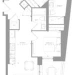 1181 Queen West Condos - Suite 401 - Floorplan
