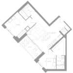 1181 Queen West Condos - Suite 203 - Floorplan