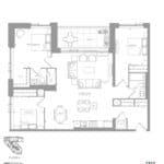1181 Queen West Condos - 1312 sq.ft - Floorplan