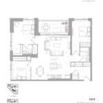 1181 Queen West Condos - 1313 Sq.ft. - Floorplan