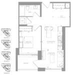 1181 Queen West Condos - 602 sq.ft - Floorplan