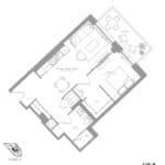 1181 Queen West Condos - 628 B sq.ft - Floorplan