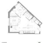1181 Queen West Condos - 698 sq.ft - Floorplan