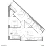 1181 Queen West Condos - 749 sq.ft - Floorplan