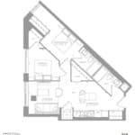 1181 Queen West Condos - 749 sq.ft - Floorplan