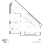 1181 Queen West Condos - 768 Sq.Ft - Floorplan