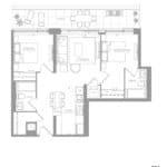 1181 Queen West Condos - 779 sq.ft - Floorplan