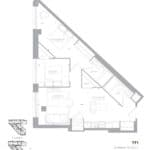 1181 Queen West Condos - 791 Sq.Ft - Floorplan