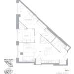 1181 Queen West Condos - 791 Sq.Ft - Floorplan