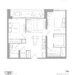 1181 Queen West Condos - 794 sq.ft. - Floorplan
