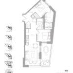 1181 Queen West Condos - 850 sq.ft - Floorplan