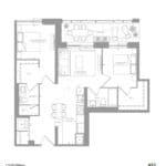 1181 Queen West Condos - 852 sq.ft - Floorplan