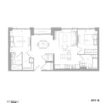 1181 Queen West Condos - 870 sq.ft. - Floorplan
