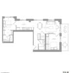 1181 Queen West Condos - 912 sq.ft - Floorplan