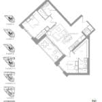 1181 Queen West Condos - 961 sq.ft - Floorplan