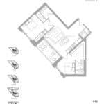 1181 Queen West Condos - 990 sq.ft. - Floorplan