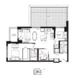 Keystone Condos - 02B1 - Floorplan