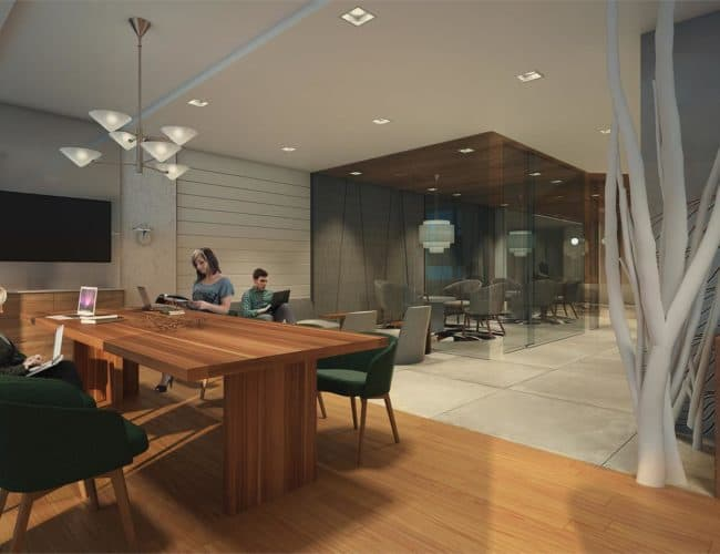 River and Fifth - Common Area - Rendering