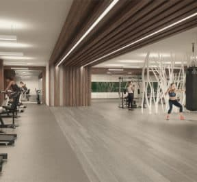 River and Fifth - Gym Amenity - Rendering