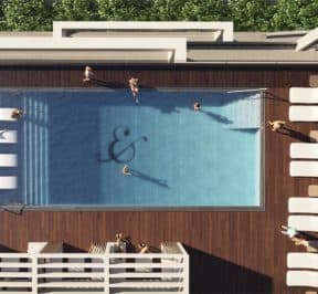 River and Fifth - Pool Amenity - Rendering