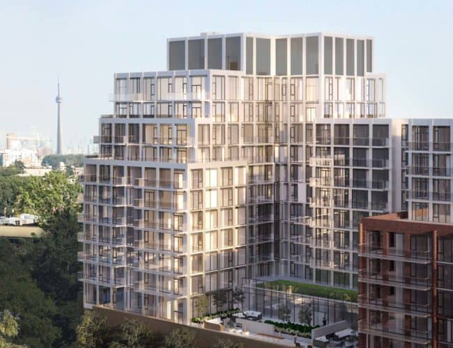 Bijou on Bloor Condos - Bird's Eye View - Exterior Render 3