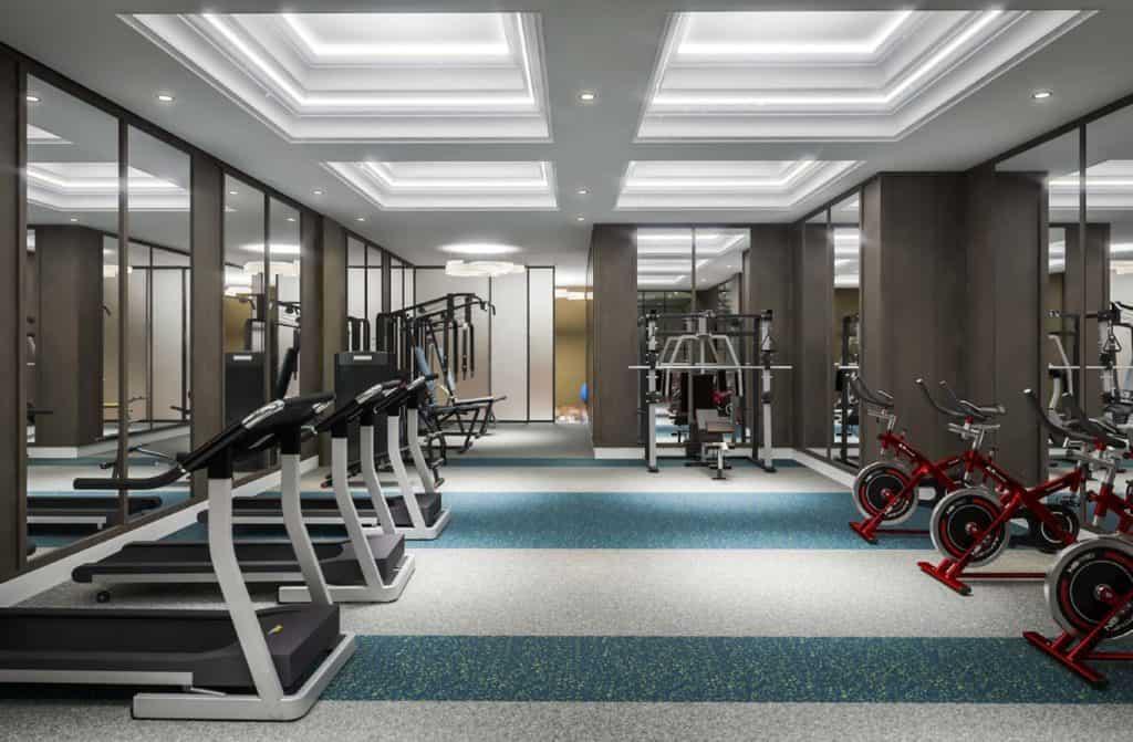 Bijou on Bloor Condos - Fitness Room - Interior Render