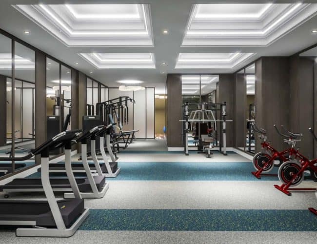 Bijou on Bloor Condos - Fitness Room - Interior Render