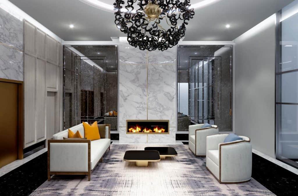 Bijou on Bloor Condos - Lobby - Interior Render