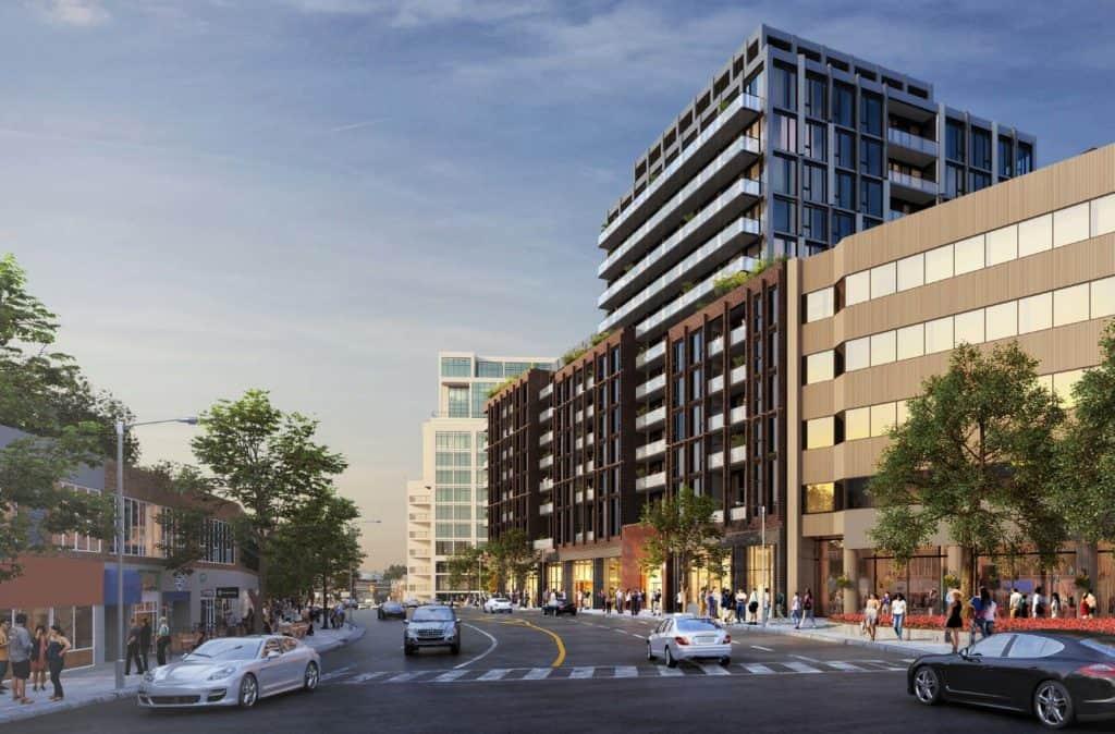 Bijou on Bloor Condos -Street Level View - Exterior Render