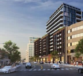 Bijou on Bloor Condos -Street Level View - Exterior Render