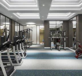 Bijou on Bloor - Gym - Interior Render