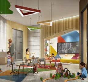 Saturday in Downsview Park - Kid's Play Area - Interior Render