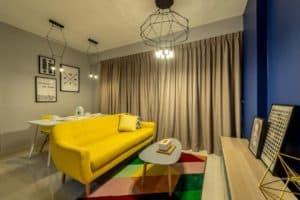 Interior design tips for small condos. Dining table within condo design. Condo interior design ideas.