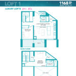 Rise at Lakeshore Condos - Loft 1 - Floorplan