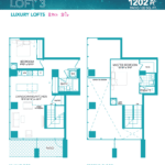 Rise at Lakeshore Condos - Loft 3 - Floorplan