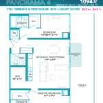 Rise at Lakeshore Condos - Panorama 4 - Floorplan