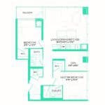 Rise at Lakeshore Condos - Rise 3 - Floorplan