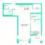 Rise at Lakeshore Condos - Rise 7 - Floorplan