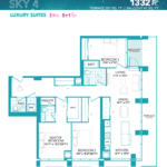 Rise at Lakeshore Condos - Sky 4 - Floorplan