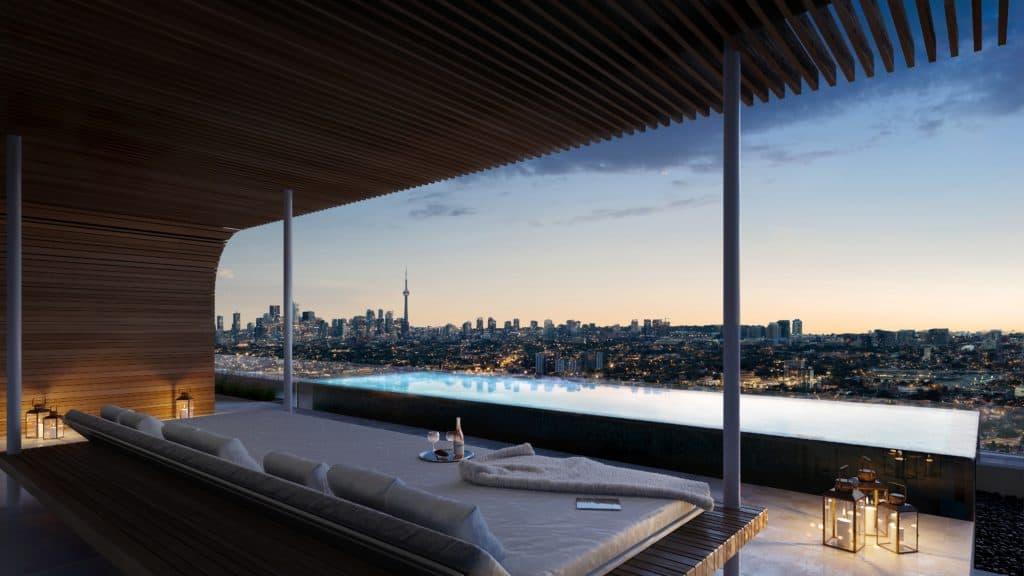 The ANX Condos - Pool - Interior Render