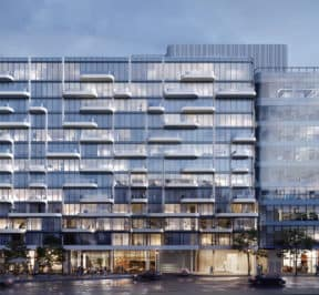 The ANX Condos - Street Level View - Exterior Render