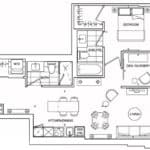 St. Clair Village Condos - Suite 404 - Floorplan
