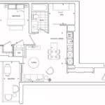St. Clair Village Condos - Suite 1110 - Floorplan