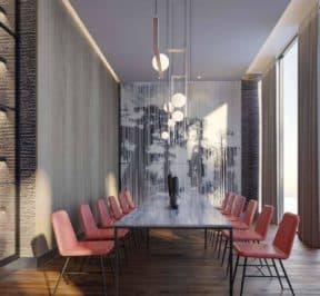 One Crosstown Condos - Dining Room - Interior Render