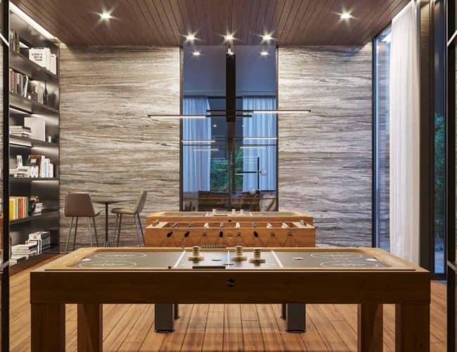 One Crosstown Condos - Games Room - Interior Render