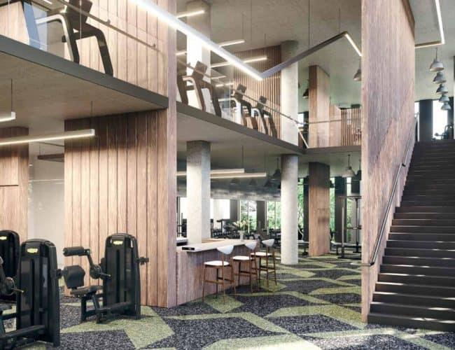 One Crosstown Condos - Gym - Interior Render