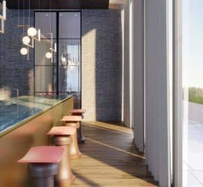 One Crosstown Condos - Kitchen - Interior Render